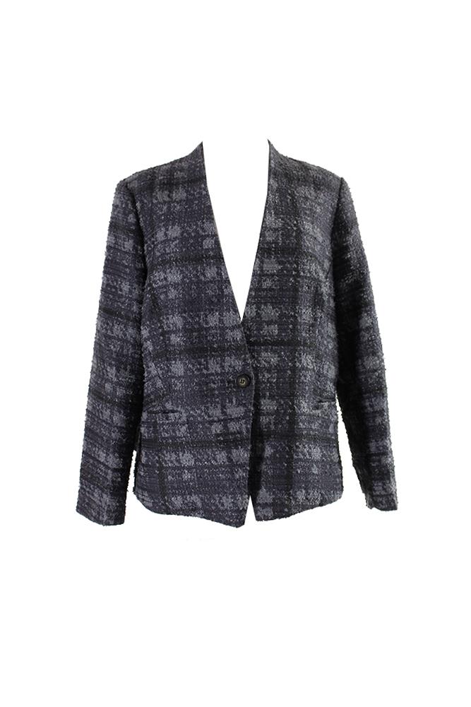 e9555c2765baf Rachel Rachel Roy Plus Size Grey Houndstooth Blazer 18W MSRP   169 ...