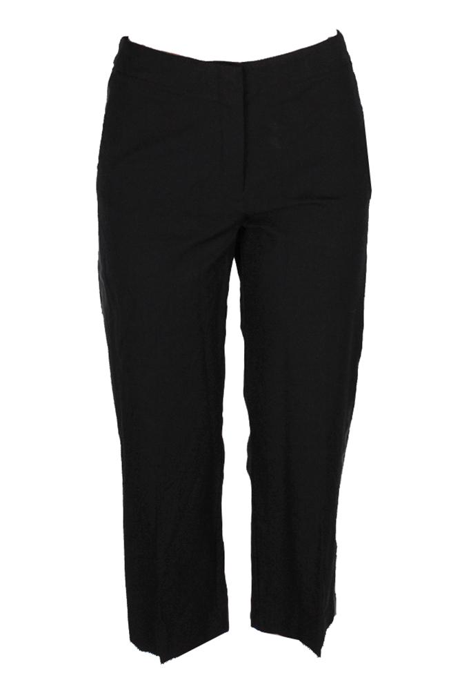 Alfani Noir Faux-leather-trim Court Pantalon 12