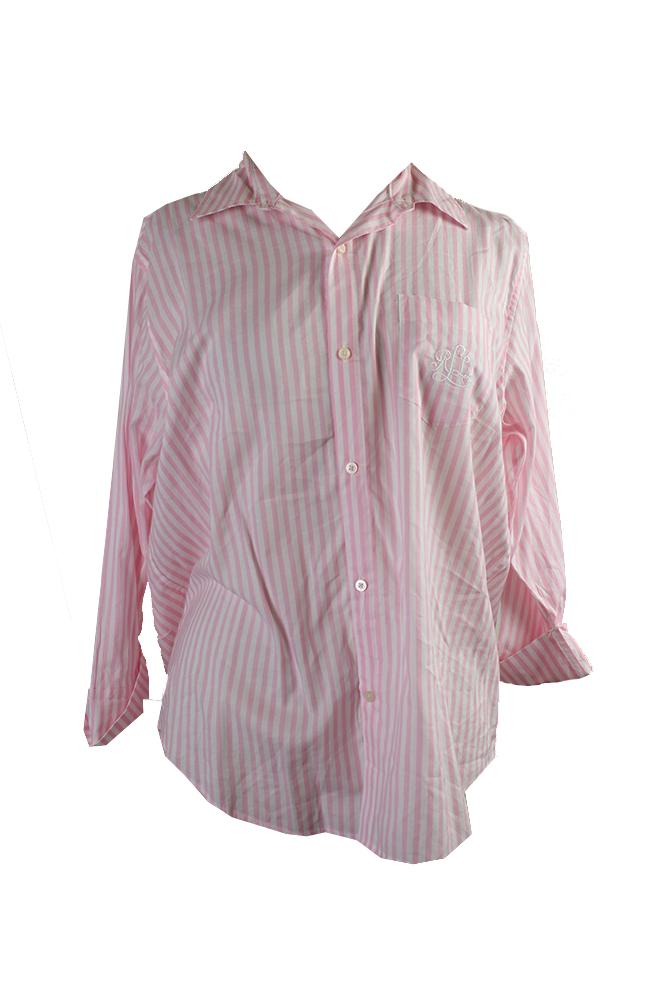Image is loading Lauren-Ralph-Lauren-Pink-Lon-Sleeve-Striped-Sleeve- d8cfb53458c4b
