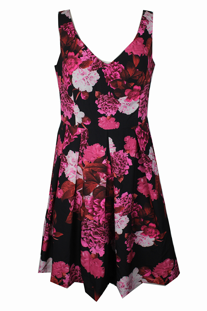 29467cceb8b City Chic Trendy Plus Size Red Combo Floral Print Fit Flare Dress ...