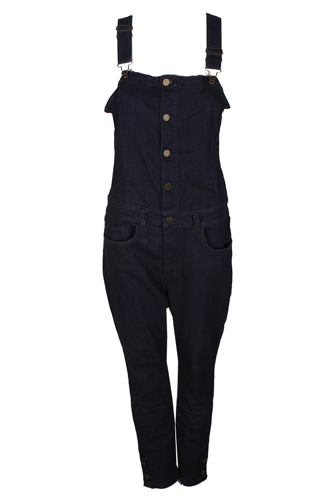 13979449e51 Image is loading Rachel-Rachel-Roy-Ultramarine-Blue-Cropped-Denim-Overalls-