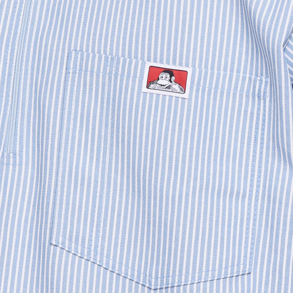 Ben-Davis-Men-039-s-Short-Sleeve-Color-Stripe-Cotton-Blend-Pockets-1-2-Zip-Shirt thumbnail 5